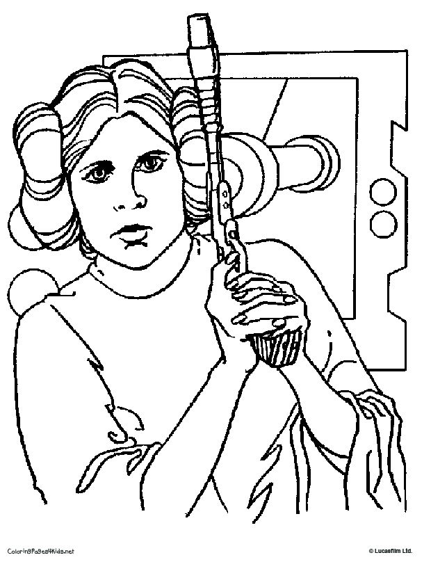 Princess Leia and other coloring pages | Star Wars Kids Party ...
