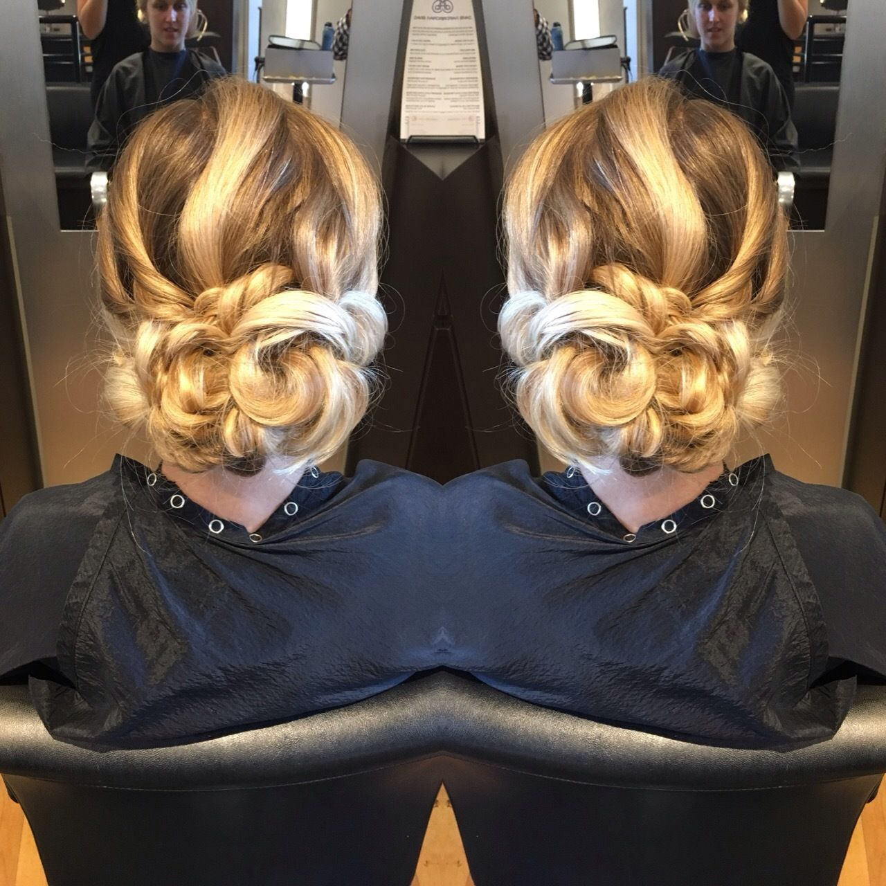 Love this fun, twisty updo by Ryan!