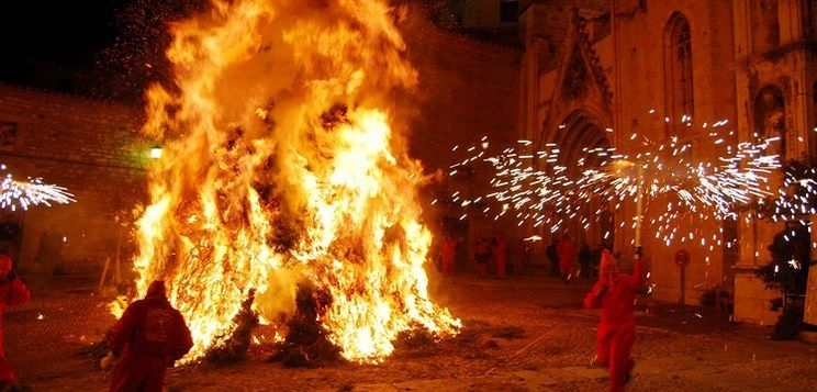 Morella Fire Festival - crazy to see first hand!