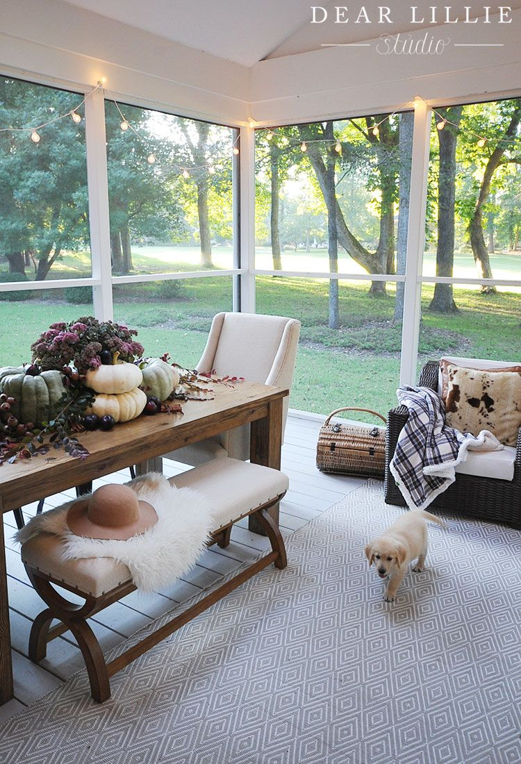 Our Fall Porch Area - Seasons Of Home Holiday Series - Dear Lillie ...