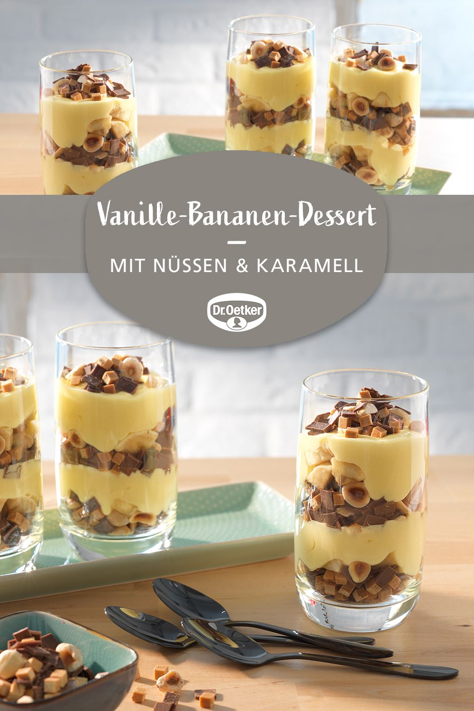 Vanille-Bananen-Dessert