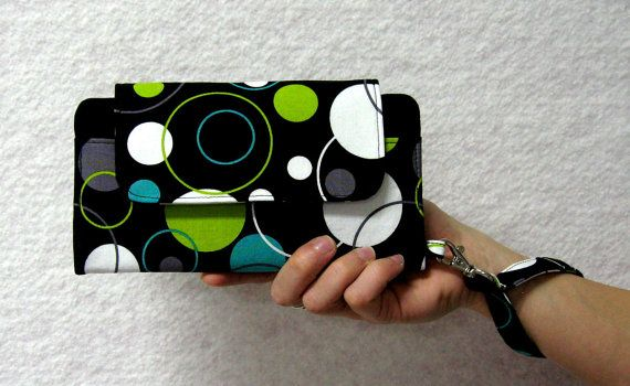 iPhone/Smart Phone Wallet Clutch in Black Sage by ThePerfectWallet, $77.00