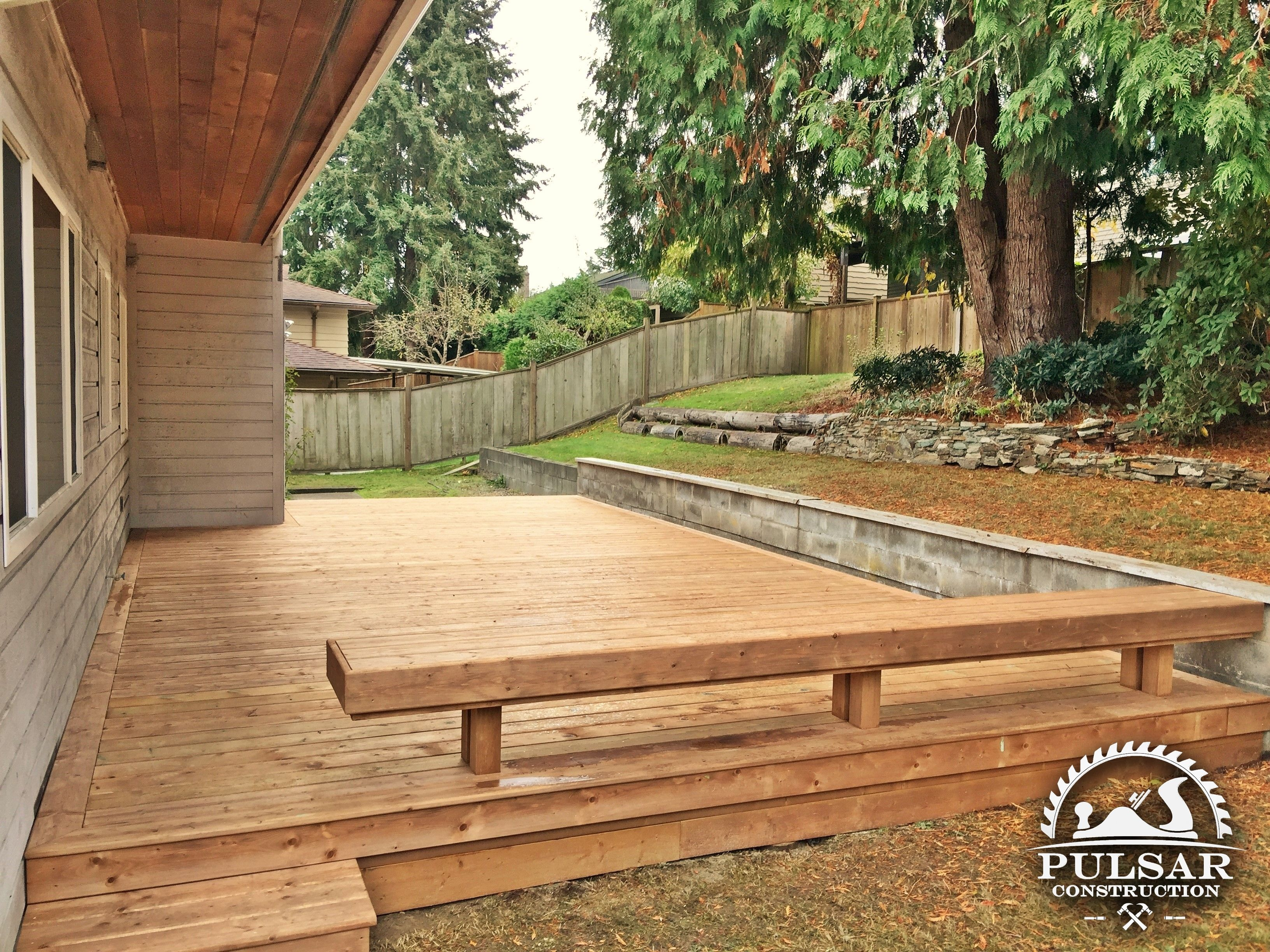 Ground Level Deck Pressure Treated Wood Ground Level Deck Patio Deck Designs How To Level Ground