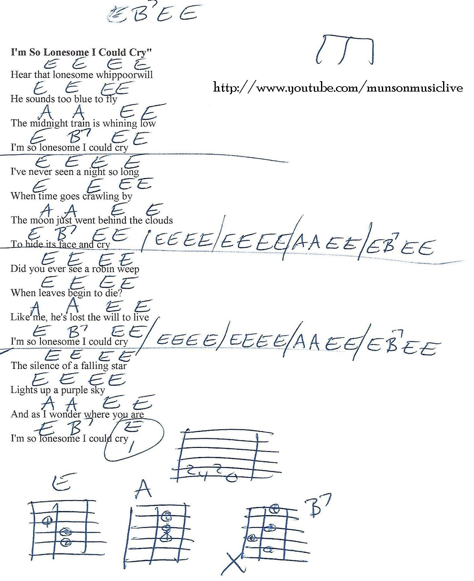 Im so lonesome i could die hank williams guitar chord chart im so lonesome i could die hank williams guitar chord chart hexwebz Images