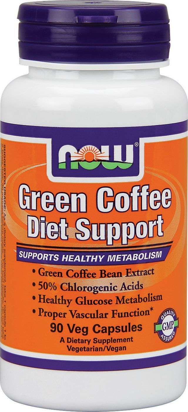 """Now Green Coffee Diet Support 90 VCapsules"" Green"