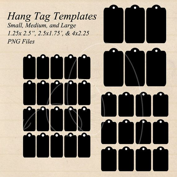 Instant Download Hang Tag Gift Tag Templates Small Medium Large