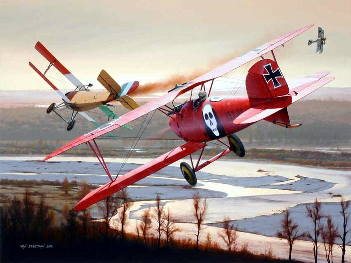 1917 11 23 Duel Above the Piave. Brumowski and Linke