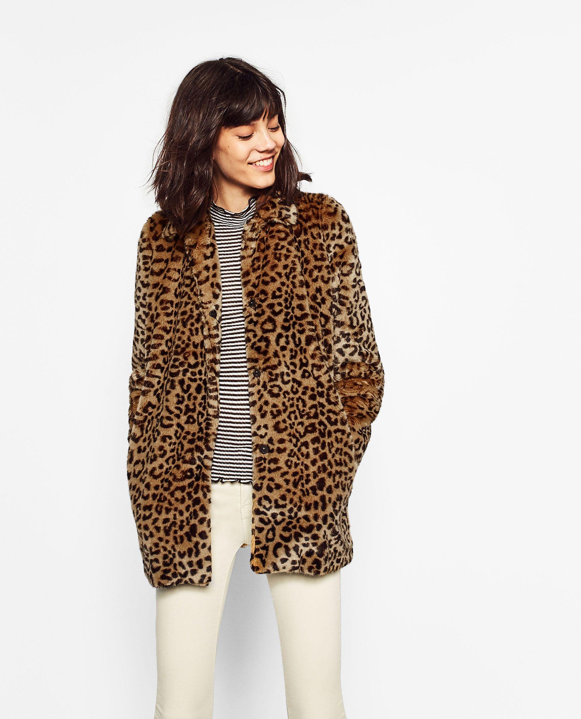 78efa2a38e34 ZARA - WOMAN - LEOPARD FAUX FUR COAT   What to wear   Coat, Faux fur ...