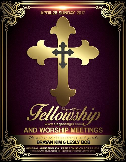 Church Meeting Event PSD Flyer Template   Http://freepsdflyer.com/church  Christian Flyer Templates
