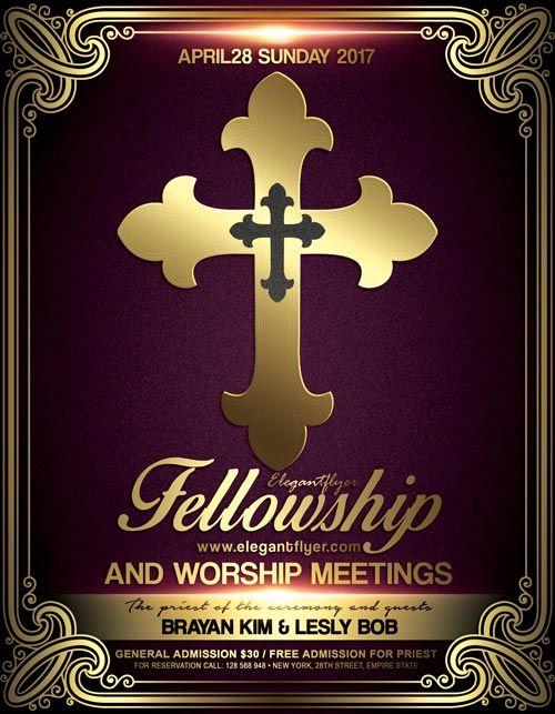 Church Meeting Event PSD Flyer Template - http\/\/freepsdflyer - christian flyer templates