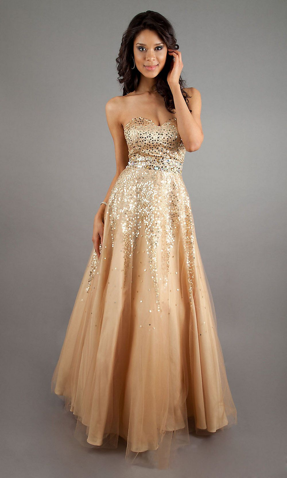 goldpromdress aesthetic gold formal dresses for the