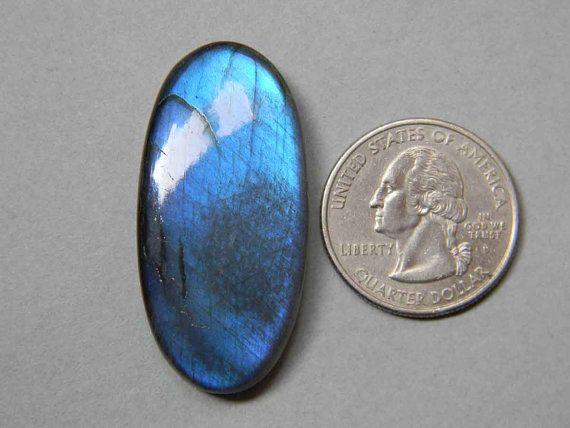 27x16 mm Gorgeous Full Blue Labradorite Cabochon Oval by KGNSHOP