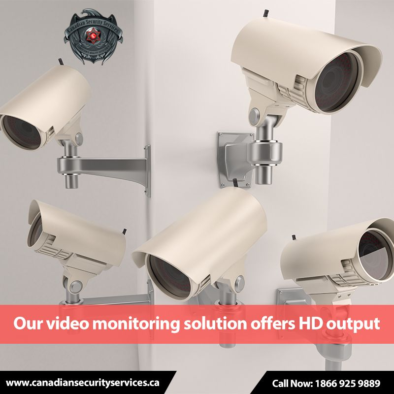 Our video monitoring solution produces highquality output