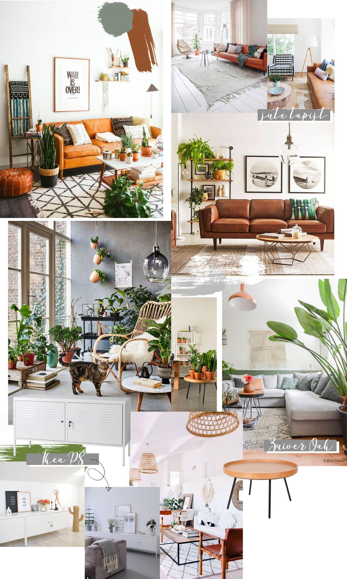 Living Room Inspiration Cognac Leather Sofa Woonkamerbank Lange Woonkamers Lederen Bank