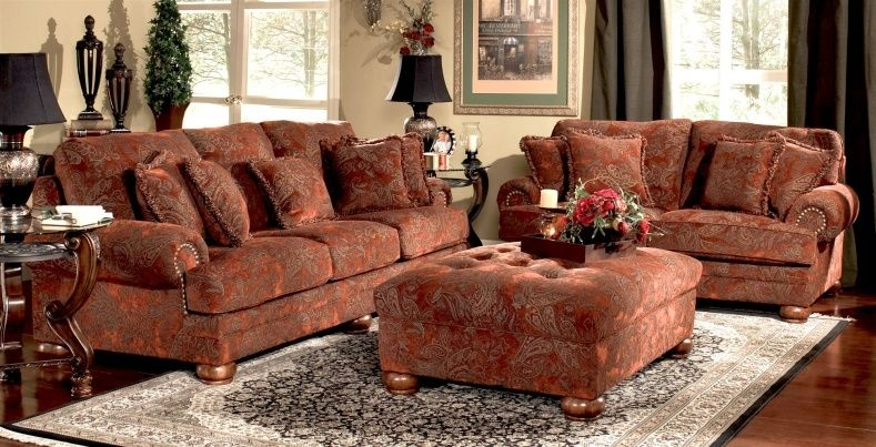 Merveilleux Leather Tapestry Sofa