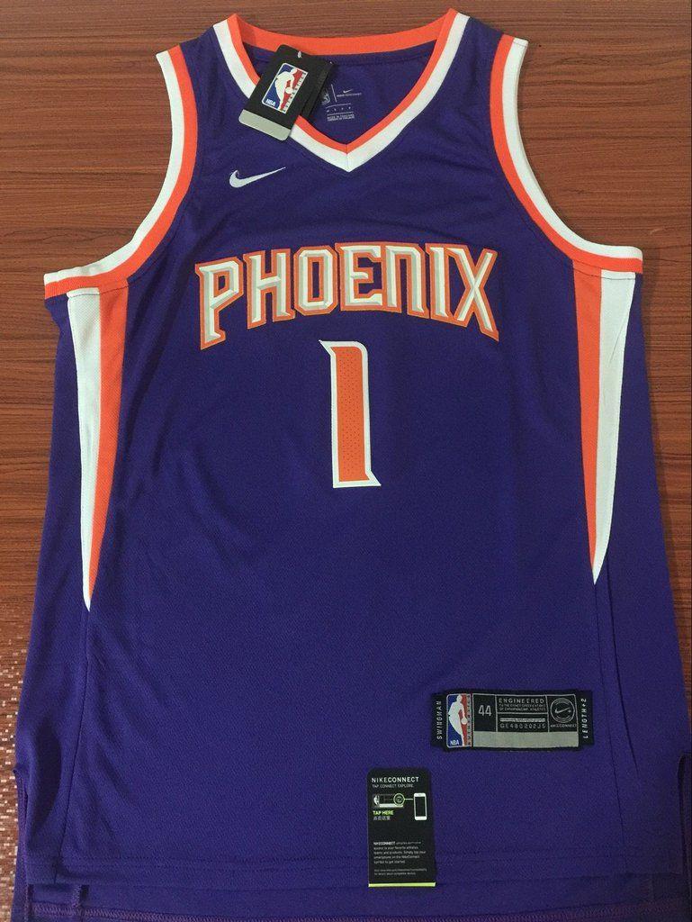 10be8faff30 Men 1 Devin Booker Jersey Purple Phoenix Suns Swingman Jersey Fanatics