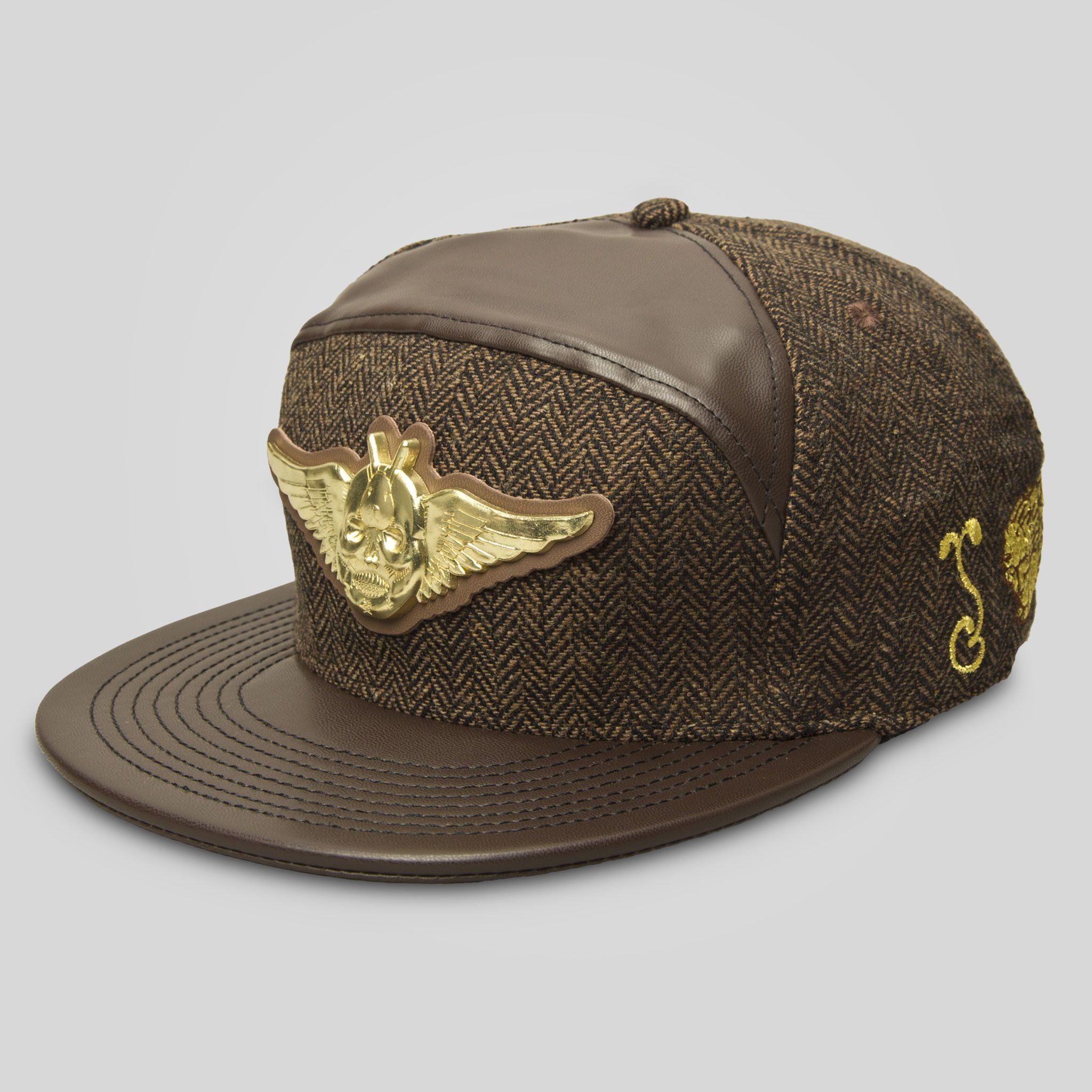 acf4ffec39de2 Grassroots California and Jeremy Fish have teamed up to create this unique  fitted cap - Brown