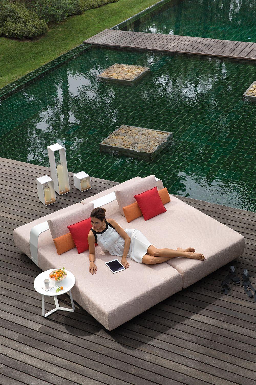 Outdoor lounger KUMO by Lionel Doyen for Manutti. Modular sofa ...