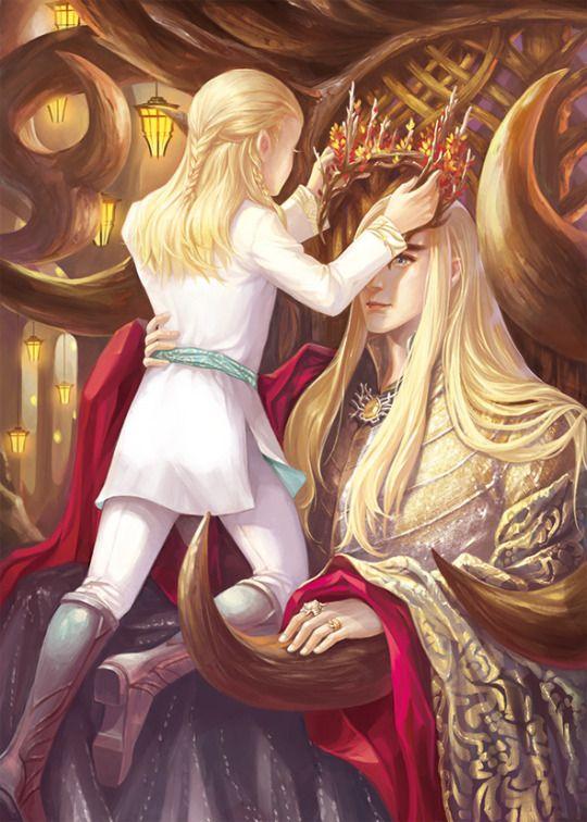 Thranduil and Legolas by 神隐三月聚粮 fan art | Tolkien\'s world ...