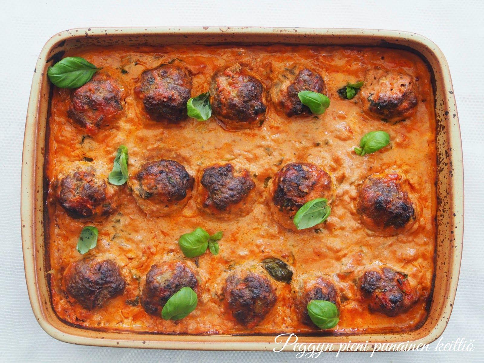 Peggyn pieni punainen keittiö: Lihapullat Peggyn tapaan