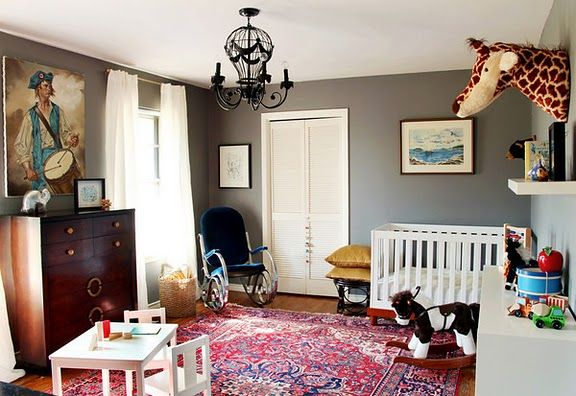 Painting Rug And Giraffe Eclectic Nursery Eclectic Kids Room