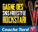 Parce que l'hiver au Québec rime avec neige et Ski, Couche-Tard et Rockstar t'offrent la possibilité de gagner une paire de skis FREESTYLE!!    Plus tu partages, plus tu as de chance de gagner!    N'oublie pas de cliquer « j'aime » sur les pages Facebook de Couche-Tard et Rockstar!