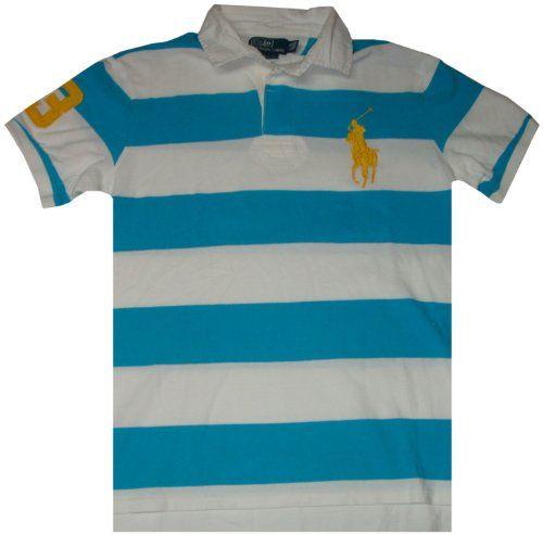 Polo Ralph Lauren Men Custom Fit Big Pony Bold-Striped Polo T-shirt (