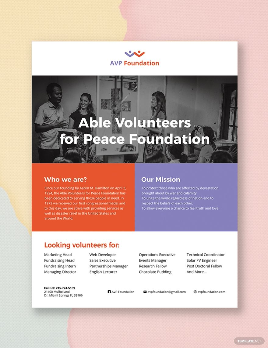 Volunteer Flyer Free Brochure Template Booklet Template
