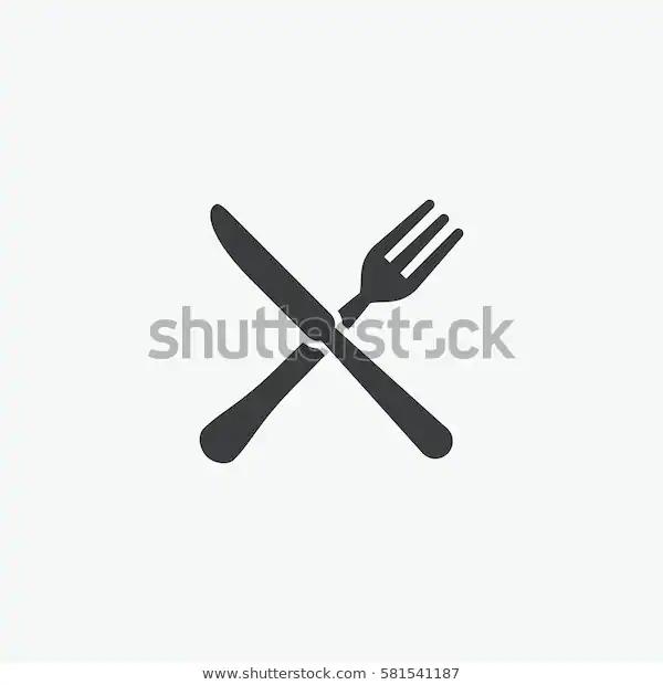 Fork Knife Restaurant Icon Stock Vector Royalty Free 581541187 Restaurant Icon Knife Restaurant Restaurant