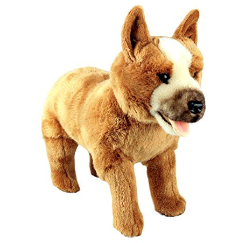 Bocchetta Plush Toys Red Cattle Dog Standing Stuffed Animal Plush