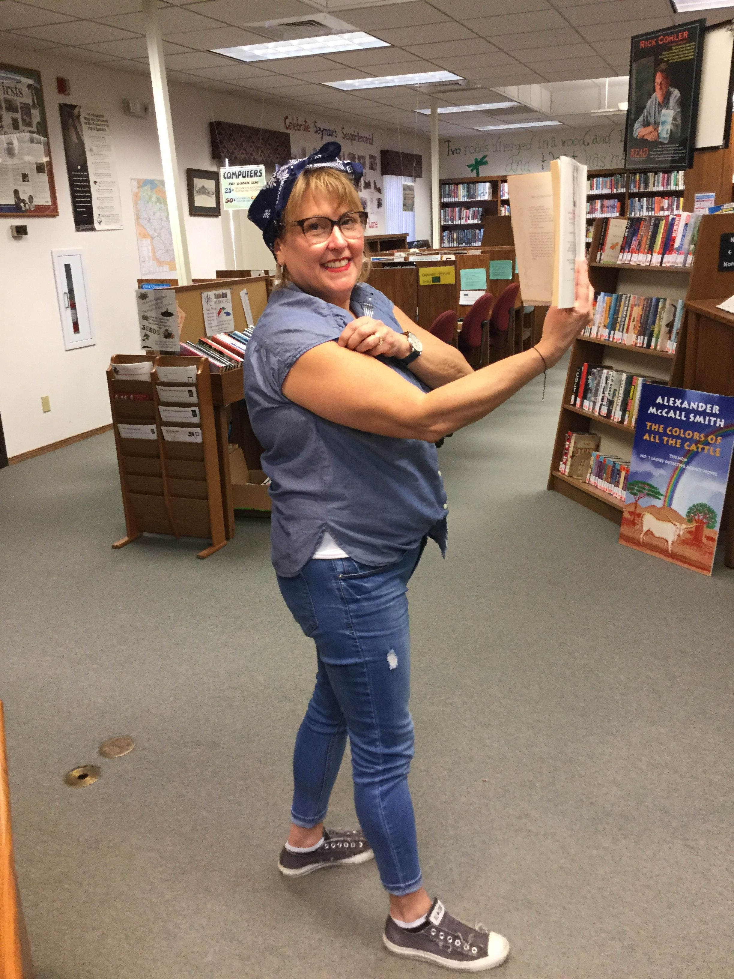 pin by muehl public library on rosie the riveter halloween 2018
