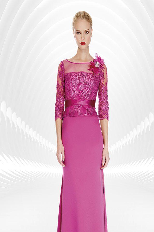 Vestido corto con mangas color boganvilla 1170008 de Sonia peña ...