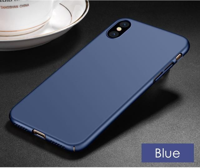 Cases For Apple iPhone X SE 5 5s 6 6s 7 8 Plus Solids Candy Color Matte Hard Pc Plastic Full Body Coverage Phone Case Cover