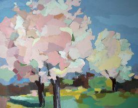 Septembre   Arbre de printemps, Peinture et Peinture au ...