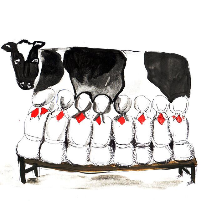 12 Days of Christmas Card - 8 Maids a Milking | 12 days of xmas, 8 days of christmas, 12 days of ...