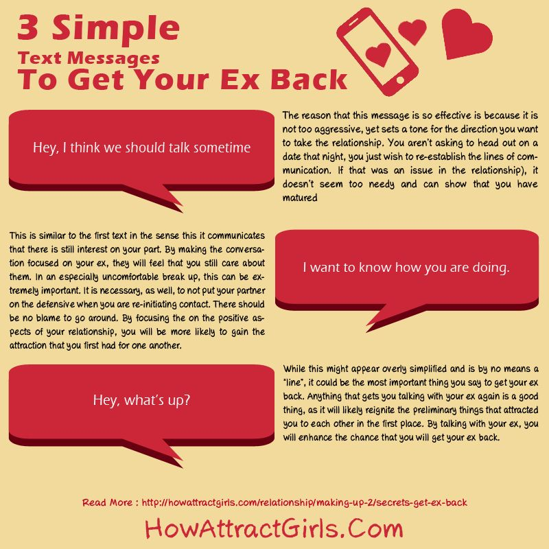 Genial Did You Want To Get Your Ex Back? Well, Just Use 3 Simple Text