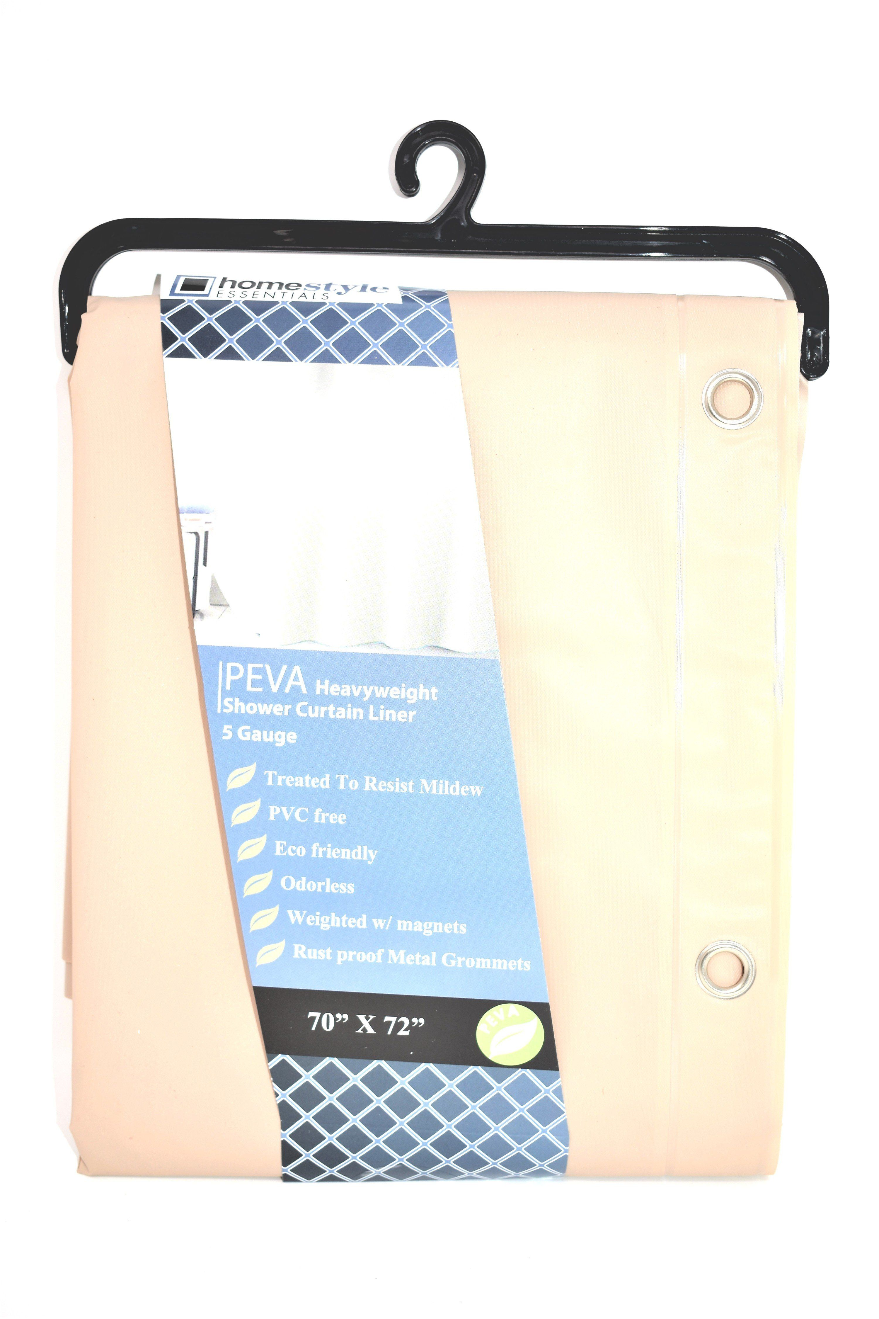 Peva Heavyweight Shower Curtain Liner Tan 5 Gauge 70 X 72