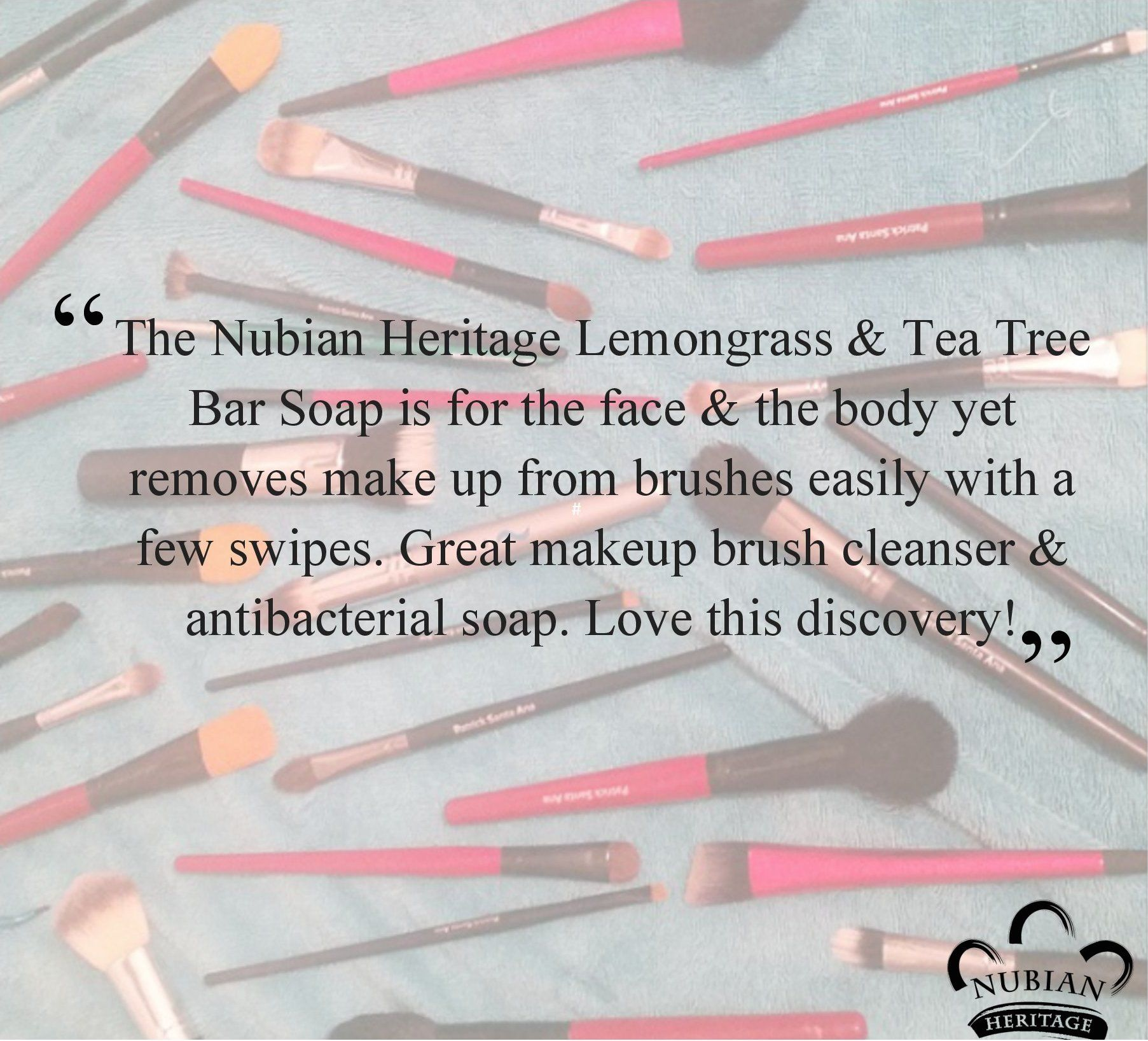 NubianHeritage Lemongrass & Tea Tree soap works great as