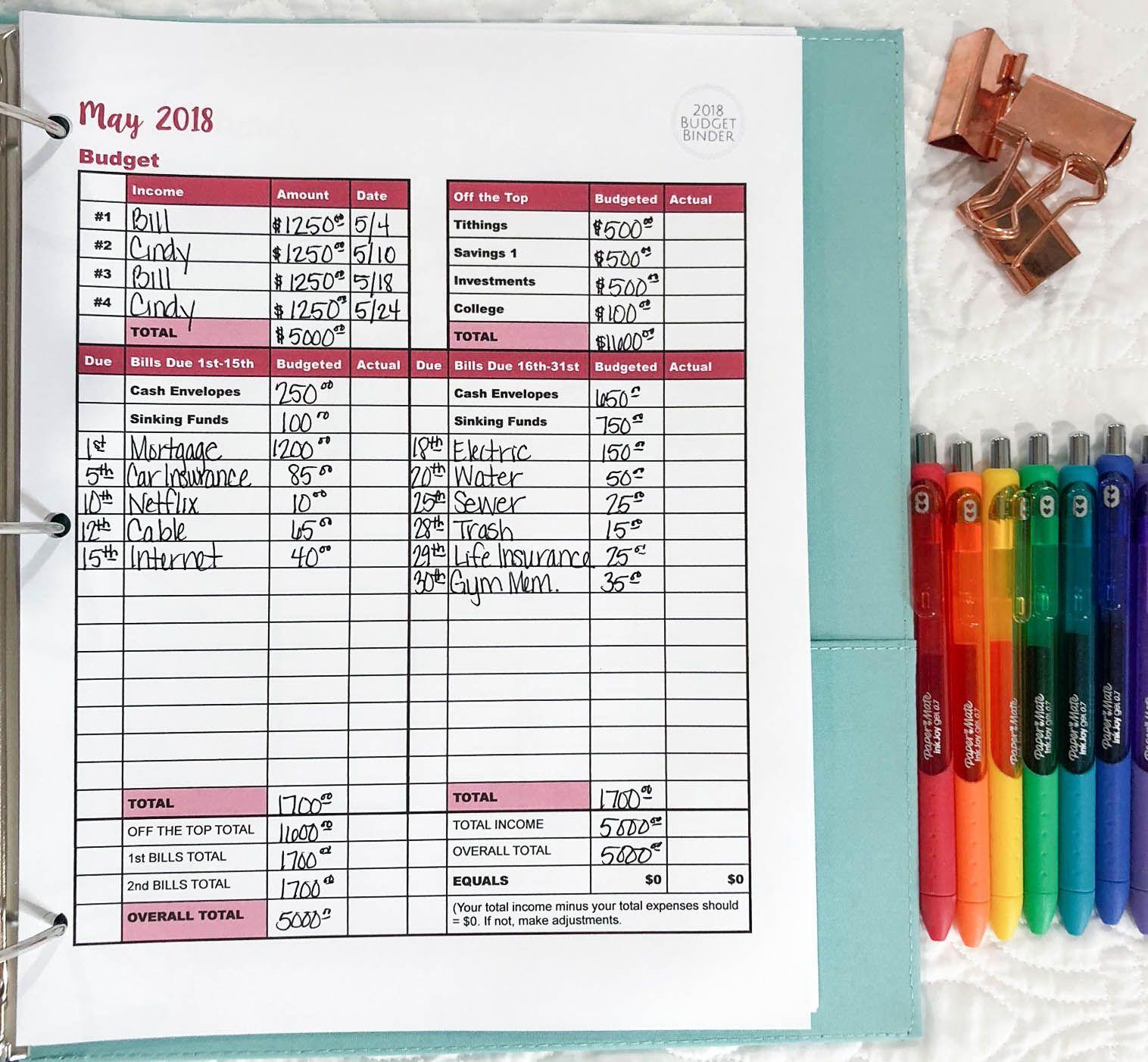 How To Setup Your Budget Binder