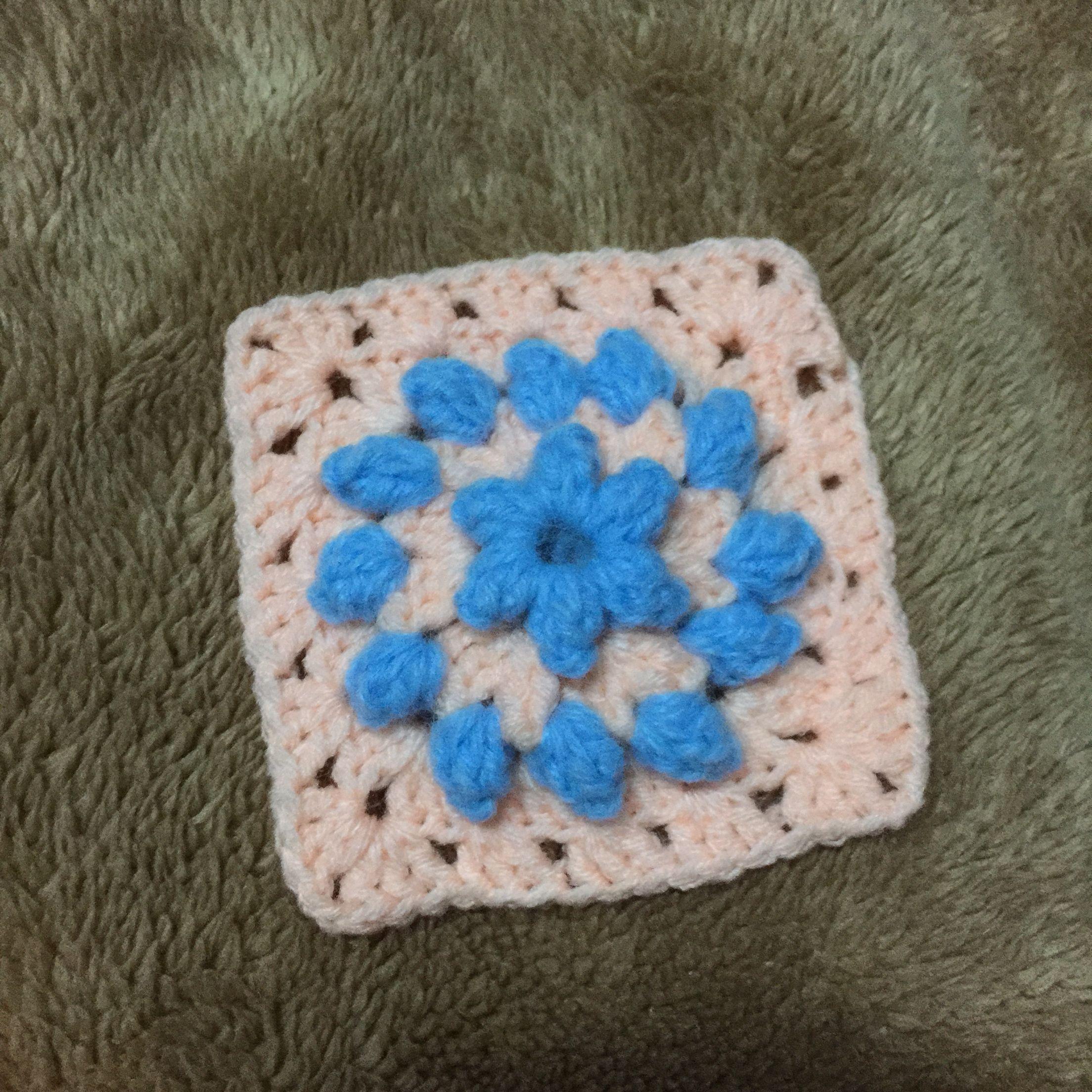 Popcorn granny square #allaboutcrochet | All about crochet ...