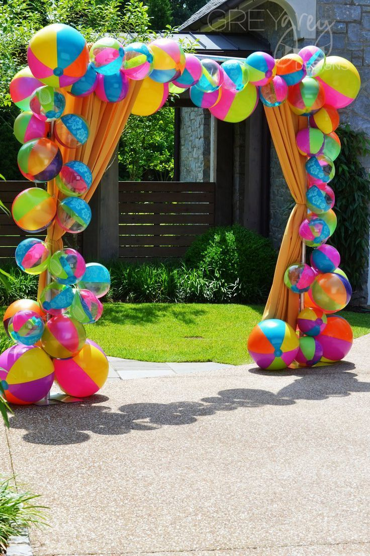 Beach Ball Back Drop For Photos Pool Party Decorations Luau