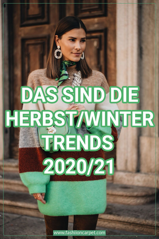 Herbst & Winter Modetrends 2020/21: Farben und Muster ...