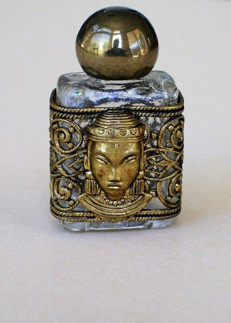 Vintage perfume bottle, neat for a display piece on a vanity table.