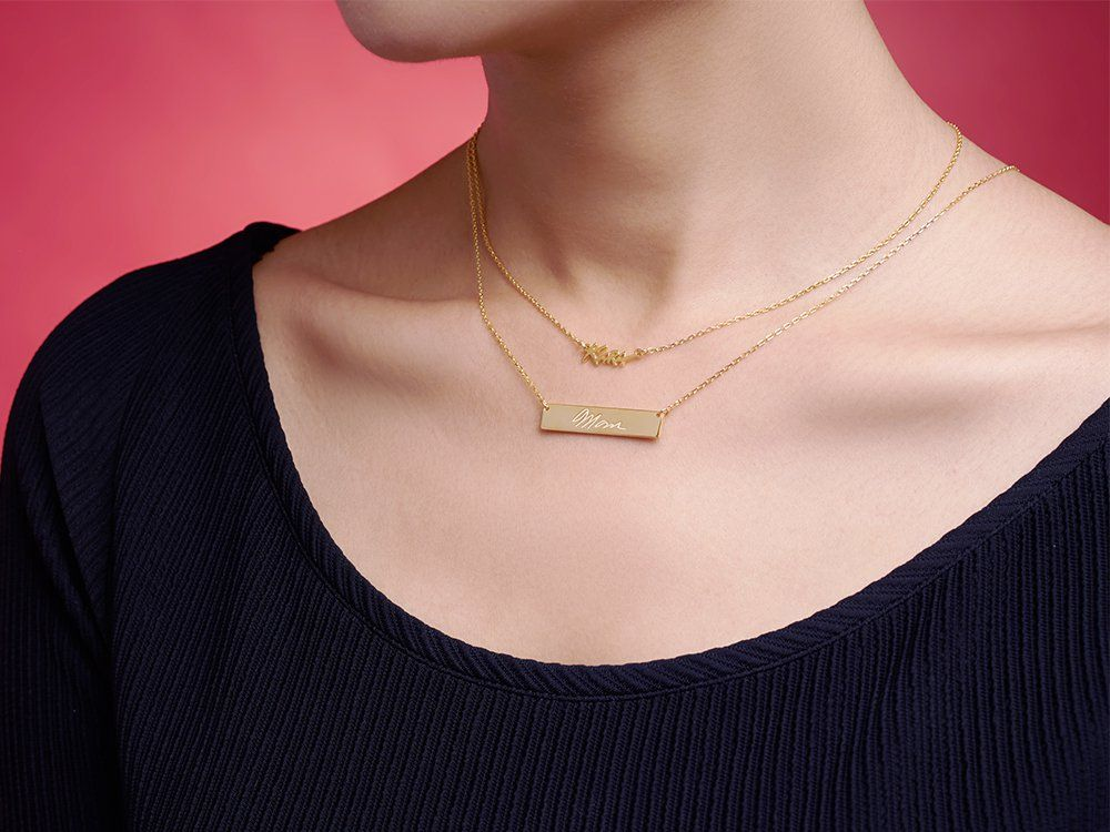 Necklace chain length guide handwriting necklace in 2019