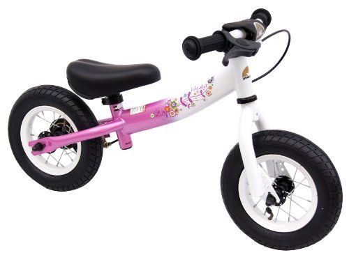 bike*star 25.4cm (10 Inch) Kids Learner Balance Beginner Run Bike Sport - Pink & White by Star-Trademarks. $79.99. 10 inch Sport No Pedal Balance Bike (Running Bike)  The balance bike the perfect tool to encourage young riders to gain the confidence and skills needed to master the art of cycling.   By removing the pedals, this allows the child to work on balance and coordination while walking/gliding on the bike.  Within a short time they will have the confidence to coa...