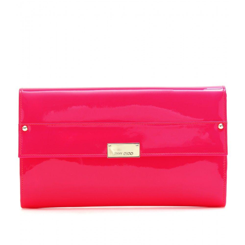REESE PATENT LEATHER CLUTCH seen @ www.mytheresa.com