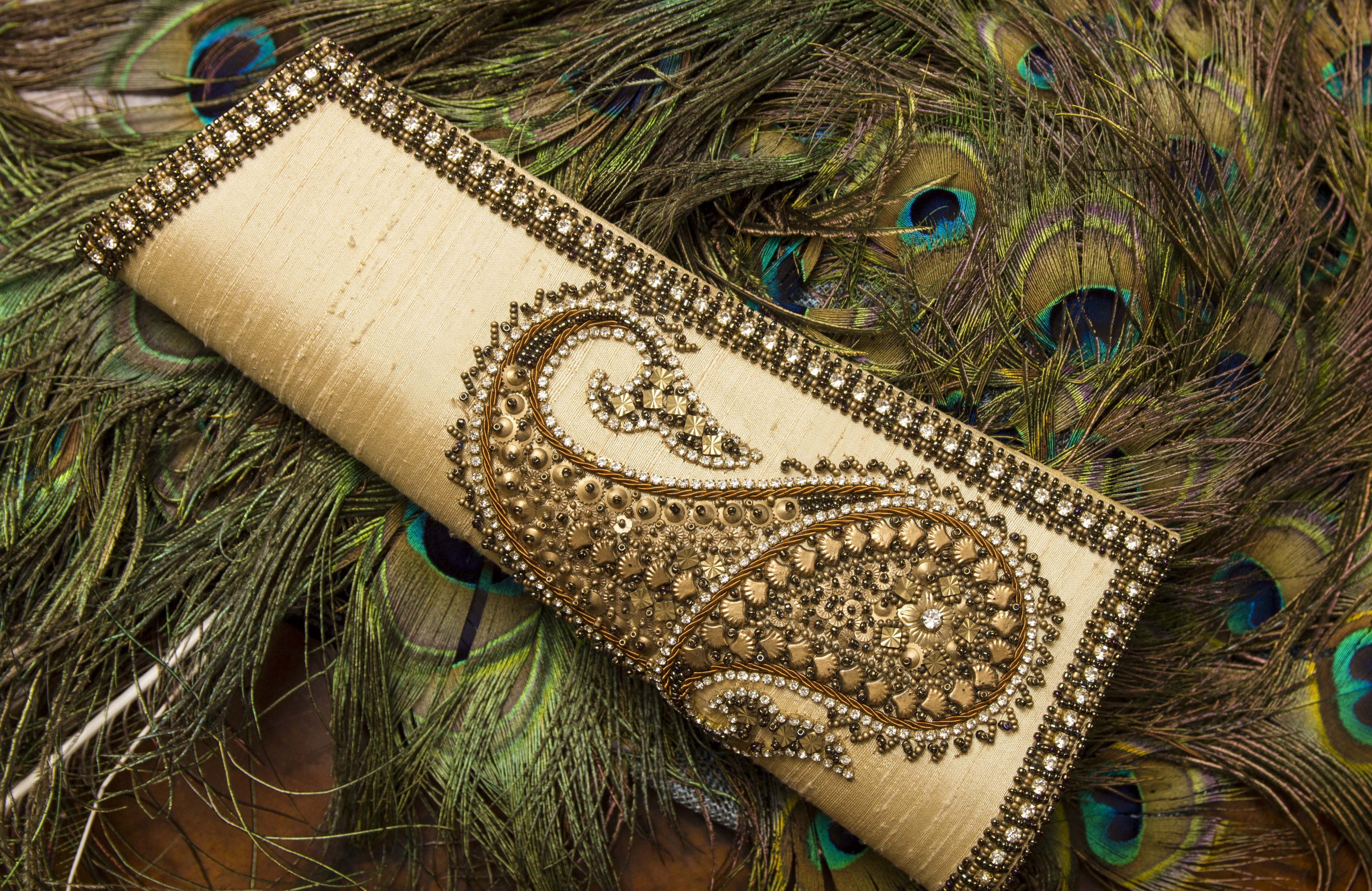 #Embellished Gold Clutch Bag #Fashion #Occasion #Accessories