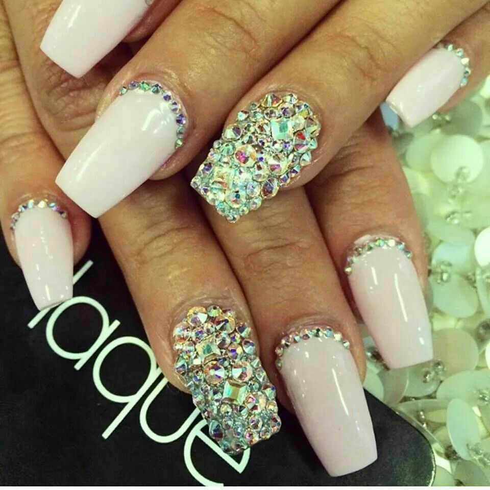 Bling, but too much for me | Nail Design | Pinterest | Bling and ...
