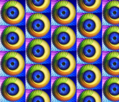 Psychedelic Eye fabric by lorileidig on Spoonflower -  4yds custom fabric