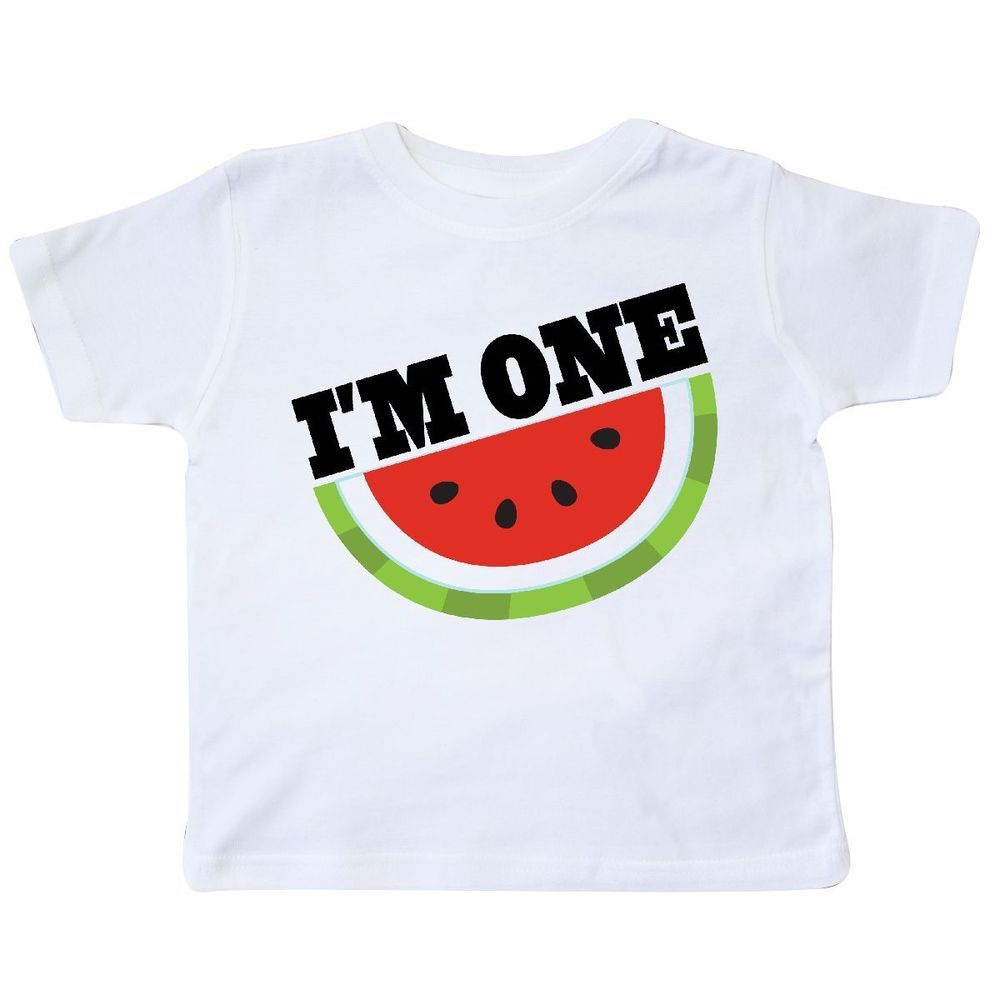 b35de905e Inktastic I'm One 1st Birthday Watermelon Toddler T-Shirt Babys First 1  Year Old #Inktastic